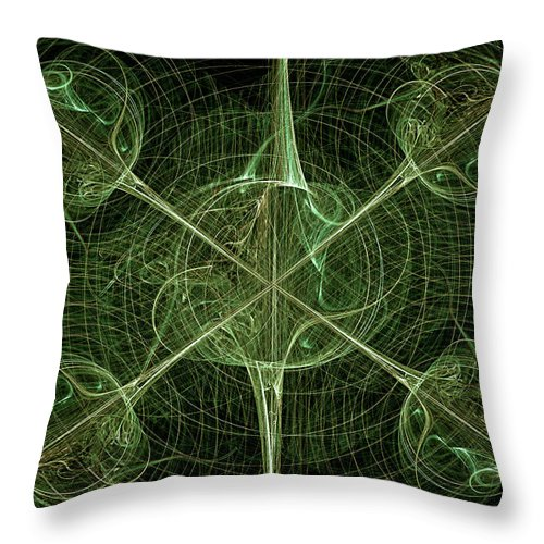 Abstract Throw Pillow featuring the digital art Daggers by Carolyn Marshall