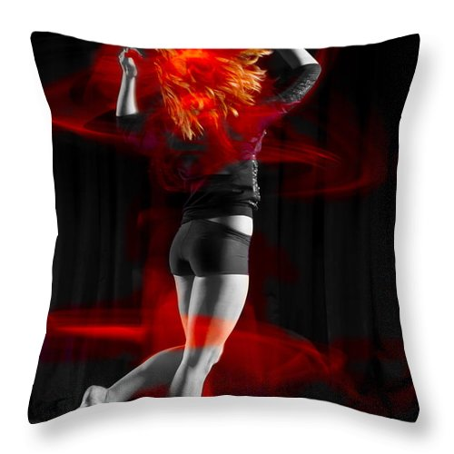 Photography Throw Pillow featuring the photograph Dancing With My Hair On Fire by Frederic A Reinecke