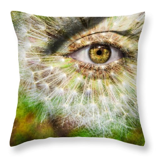 Art Throw Pillow featuring the photograph Dandelion by Semmick Photo