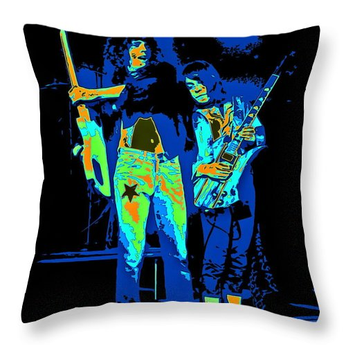 Danny Johnson Throw Pillow featuring the photograph Danny And Rick by Ben Upham