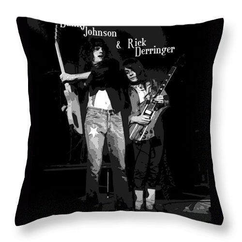 Rick Derringer Throw Pillow featuring the photograph D J And R D In Spokane 1977 by Ben Upham