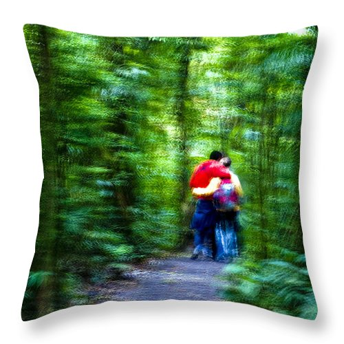 Couple Throw Pillow featuring the photograph Dappled Days Of Summer by Madeline Ellis