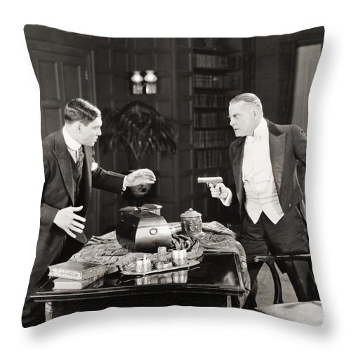 -guns- Throw Pillow featuring the photograph Daredevil Jack, 1920 by Granger