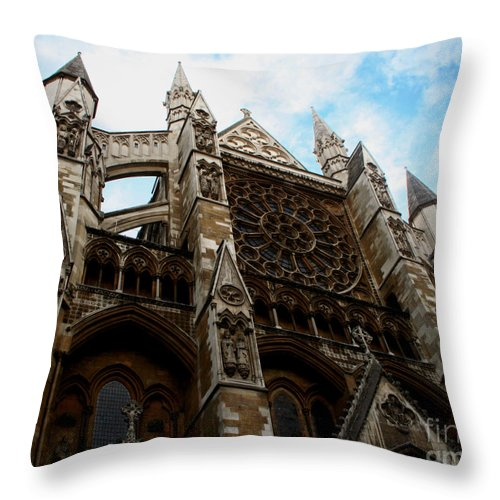 Westminster Abbey Throw Pillow featuring the photograph Daunting by Heather Applegate
