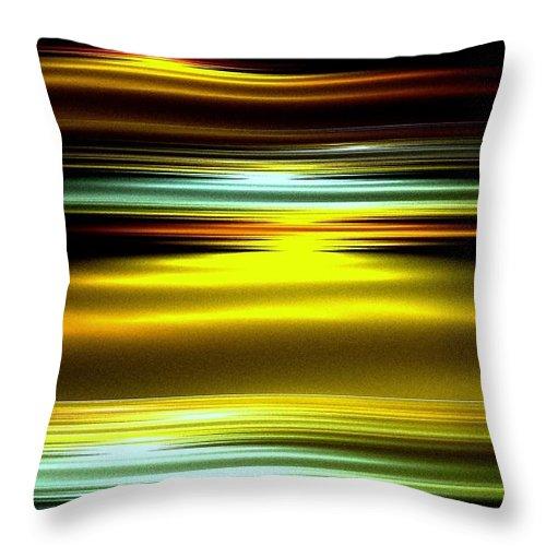Ocean Throw Pillow featuring the digital art Dawn by Greg Moores