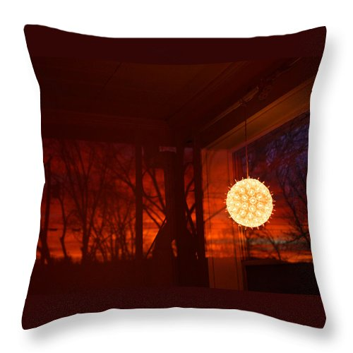 Dawn Throw Pillow featuring the photograph Dawn Light by Ted M Tubbs