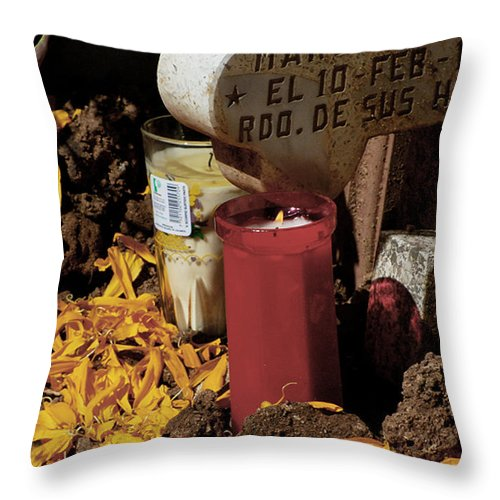 Mexico Throw Pillow featuring the photograph Day Of The Dead by David Resnikoff