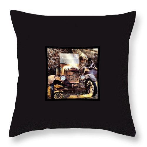 Antique Throw Pillow featuring the photograph Days Of Old by Darice Machel McGuire