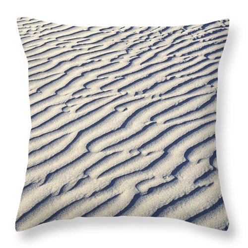 Sandra Bronstein Throw Pillow featuring the photograph Death Valley Dune by Sandra Bronstein