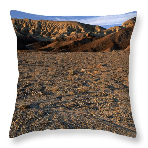 Sandra Bronstein Throw Pillow featuring the photograph Death Valley by Sandra Bronstein