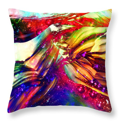 Abstract Throw Pillow featuring the digital art Deep Within by Barbara Berney