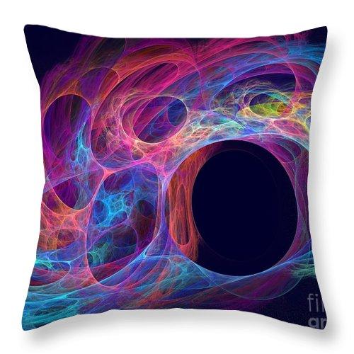 Apophysis Throw Pillow featuring the digital art Delphinus by Kim Sy Ok