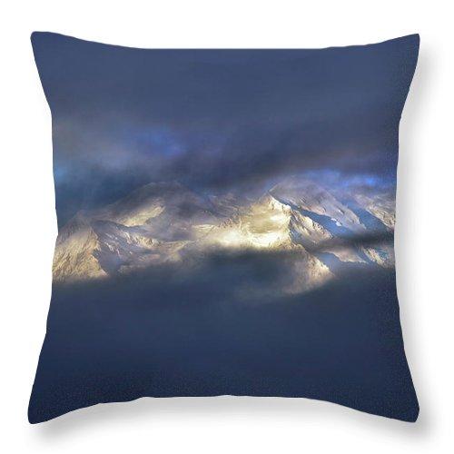 Denali National Park Throw Pillow featuring the photograph Denali by Rick Berk
