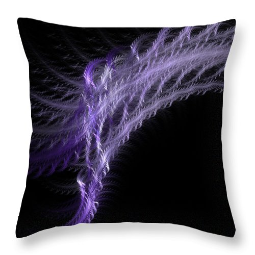 Dna Throw Pillow featuring the digital art Denatured Deoxyribonucleic Acid by Betsy Knapp