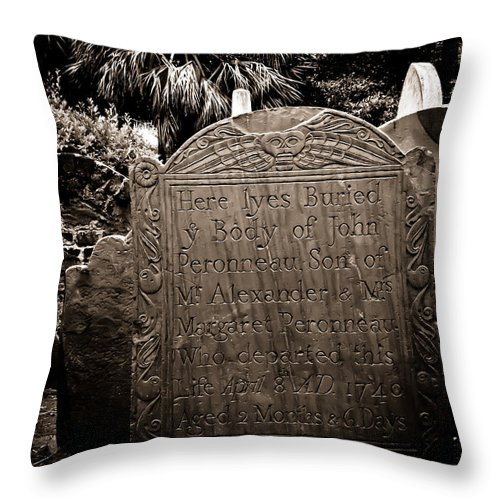 Cemetery Throw Pillow featuring the photograph Departed by Jessica Brawley