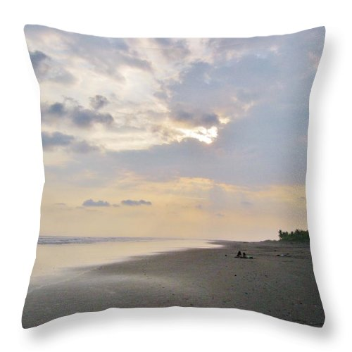 Deserted Throw Pillow featuring the photograph Deserted by Caroline Lomeli