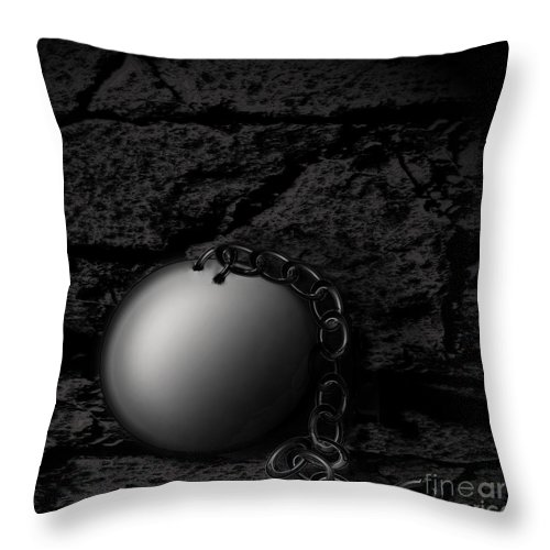Freedom Throw Pillow featuring the digital art Detached by Joe Russell