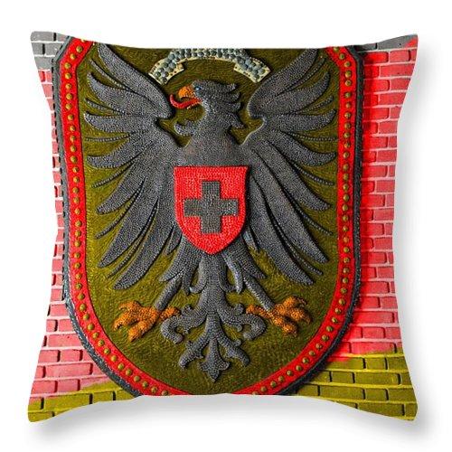 Deutsch Throw Pillow featuring the photograph Deutsch Weimarer Shield by Jost Houk