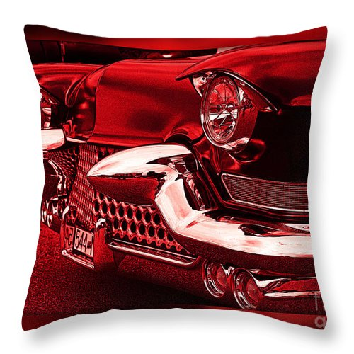Cars Throw Pillow featuring the photograph Devilish Hot Rod by Randy Harris