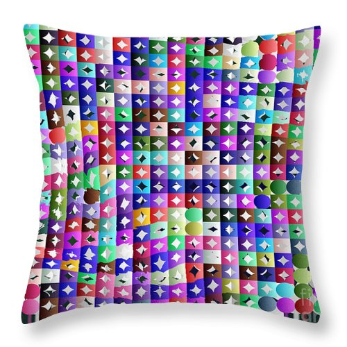 Ebsq Throw Pillow featuring the digital art Diamonds In The Rough by Dee Flouton