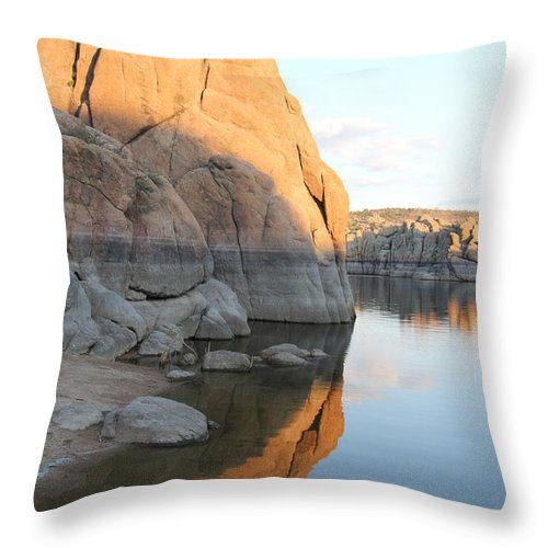 Watson Lake Throw Pillow featuring the photograph Diane Greco-lesser by Diane Greco-Lesser