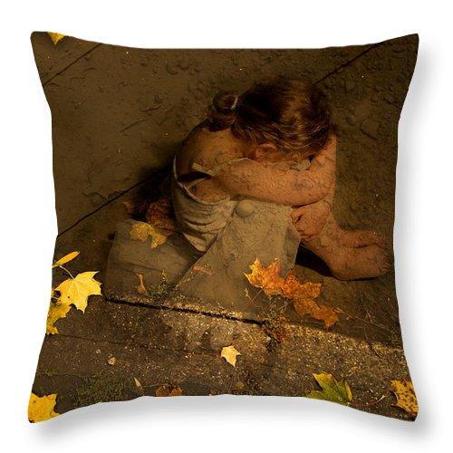 Throw Pillow featuring the digital art Digital Art Essay V by Marie-Dominique Verdier