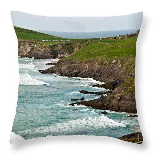 Throw Pillow featuring the photograph Dingle Peninsula Sea Shore 1 by Douglas Barnett