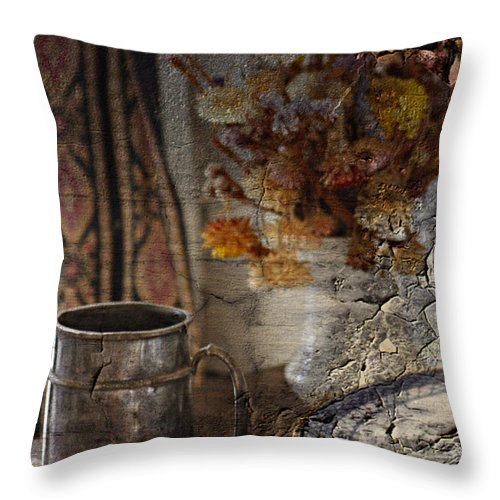 Jerry Cordeiro Photographs Photographs Throw Pillow featuring the photograph Dinner Stein by The Artist Project