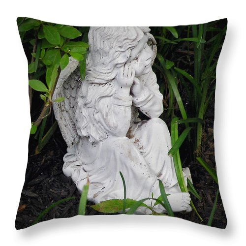 2d Throw Pillow featuring the photograph Dirty Little Angel by Brian Wallace