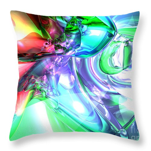 3d Throw Pillow featuring the digital art Disorderly Color Abstract by Alexander Butler