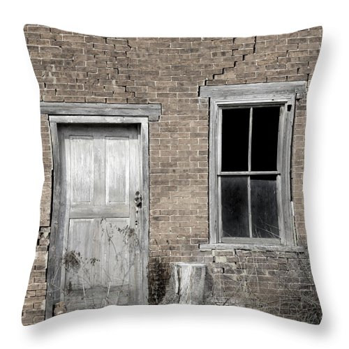 Surreal Throw Pillow featuring the photograph Distressed Facade by John Stephens
