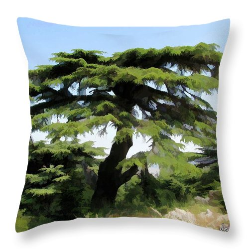 Tree Throw Pillow featuring the photograph Do-00511 Cedar Forest by Digital Oil