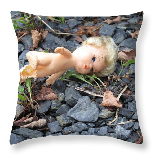 Doll Throw Pillow featuring the photograph Dolly by Michele Nelson