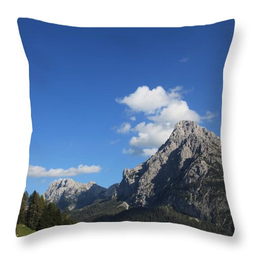Dolomiti Mountains Throw Pillow featuring the photograph Dolomiti by Francesco Scali