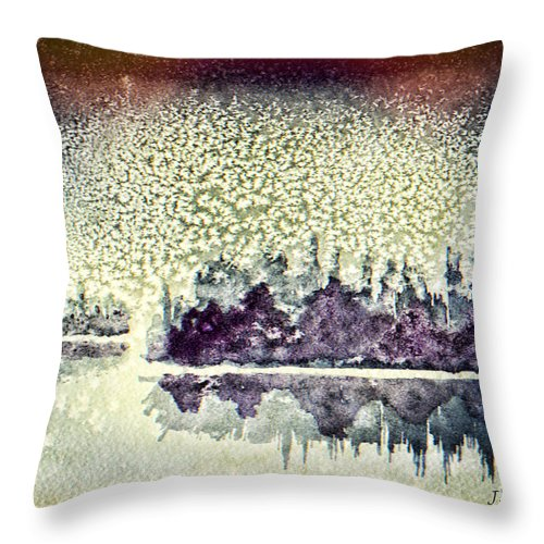 Snow Throw Pillow featuring the painting Dome Of Snow by Jo-Anne Gazo-McKim