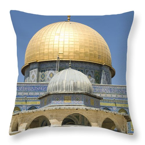 Middle East Throw Pillow featuring the photograph Dome Of The Rock Was Erected by Richard Nowitz