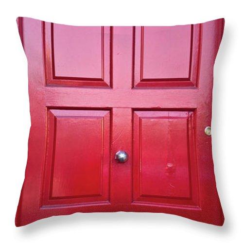 Door Throw Pillow featuring the photograph Door In Ireland 5 by Douglas Barnett