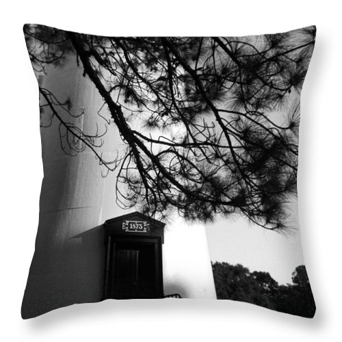 Throw Pillow featuring the photograph Door To Hunting Island Light by Marty Fancy