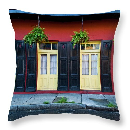 Door Throw Pillow featuring the photograph Doors And Shutters by Frances Hattier
