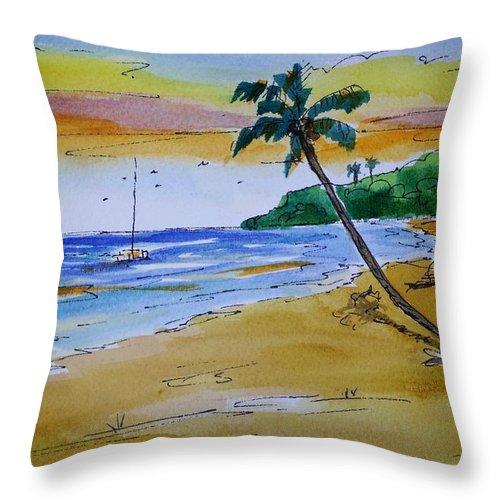 Beach Throw Pillow featuring the painting Dorsch Beach by Diane Elgin