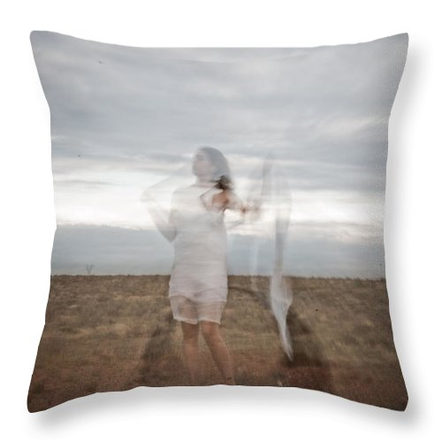 Long Exposure Throw Pillow featuring the photograph Double Image Ghost by Scott Sawyer