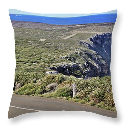Kangaroo Island Throw Pillow featuring the photograph Down To The Rocks by Stephen Mitchell