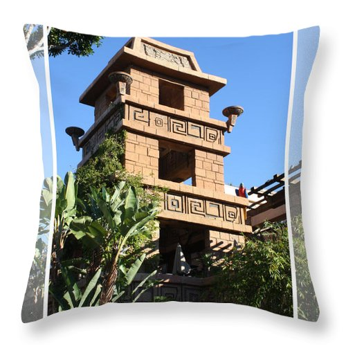 Downtown Disney Throw Pillow featuring the pyrography Downtown Disney by Tommy Anderson