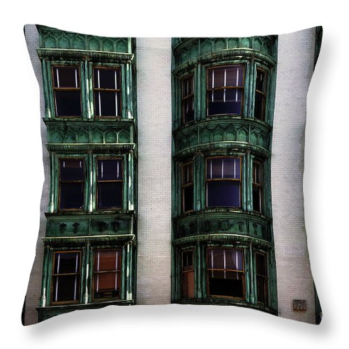 San Francisco Throw Pillow featuring the photograph Downtown San Francisco by Bob Christopher