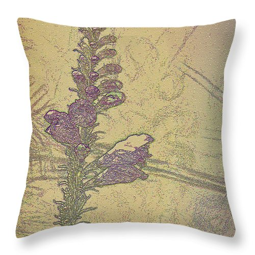 Dragon Flower Throw Pillow featuring the photograph Dragon Flower Brocade by Kathy Clark