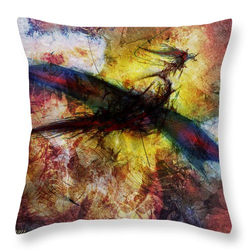 Art Throw Pillow featuring the digital art Dragon by Stefano Popovski