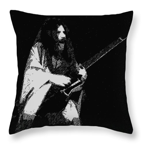 Mahogany Rush Throw Pillow featuring the photograph Drawn Effect by Ben Upham