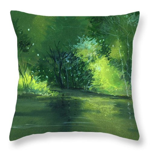 Dream Throw Pillow featuring the painting Dream 1 by Anil Nene