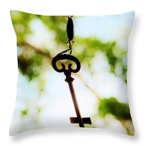 Key Throw Pillow featuring the photograph Dream Key by Michele Nelson
