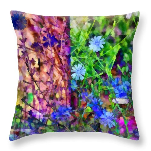 Abstract Throw Pillow featuring the photograph Dreaming Night And Day by Angelina Vick